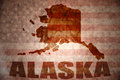 Vintage alaska map Royalty Free Stock Photo