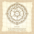 Vintage alchemy magic circle Royalty Free Stock Photo