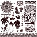 Vintage aloha tiki illustration this is file of eps format Royalty Free Stock Images