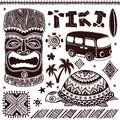 Vintage aloha tiki illustration this is file of eps format Stock Photography