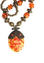 Vintage Amber Pendant Royalty Free Stock Photo