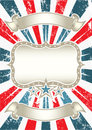 Vintage American Background Royalty Free Stock Images