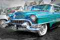 Vintage american cadillac photo of a car with lots of chrome showing at whitstable car show in kent on th august photo ideal for Royalty Free Stock Images