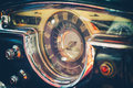 Vintage american car dashboard cuba interior of old classic in havana Stock Photo