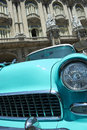Vintage American Car Havana Cuba Stock Photos