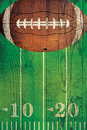 Vintage American Football Ball Field Background Royalty Free Stock Photo