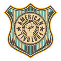Vintage american football crest. Stock Photos