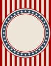 Vintage American patriotic background Royalty Free Stock Photo