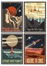 Vintage American Space Posters from the 1950s