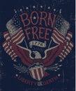 Vintage Americana Eagle Graphic