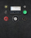 Vintage ampere meter dashboard weathered setting with copy space Royalty Free Stock Photography