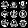 Vintage Ancient Greece Labels Set Royalty Free Stock Photo