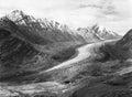Vintage analogue film photo of Zanskar Glacier Royalty Free Stock Photo