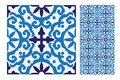 Vintage antique seamless design patterns tiles in Vector illustration Royalty Free Stock Photo