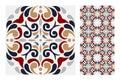 Vintage antique seamless design patterns tiles in Vector illustration