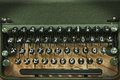 Vintage antique typewriter keyboard close up view of Stock Photos