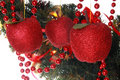 Vintage apple-shaped christmas balls Royalty Free Stock Photo
