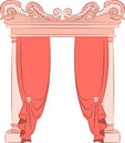 The vintage arch with curtain. Royalty Free Stock Photo