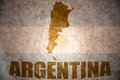 Vintage argentina map Royalty Free Stock Photo