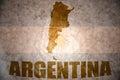 Vintage argentina map Royalty Free Stock Photo