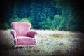 Vintage armchair in nature Royalty Free Stock Images