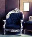 Vintage armchair retro styled interior Royalty Free Stock Photo
