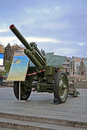 Vintage armoured 122 mm soviet howitzer M-39, Royalty Free Stock Photo
