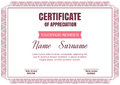 Vintage art deco certificate template,vector illus Royalty Free Stock Photo