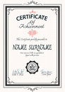 Vintage art deco certificate template Royalty Free Stock Photo