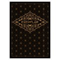 Vintage Art Deco Monochrome Flourishes frame. Ornamental Greeting Card Vector Template. Background cover. Title page. Royalty Free Stock Photo