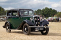 Vintage austin motorcar potten end uk july a leaves the main show arena after being displayed to the public at the dacorum steam Stock Images