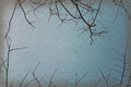 Vintage autumn, Dry branches against blue sky, abstract background Royalty Free Stock Photo