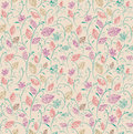 Vintage autumn leaves seamless pattern background. Royalty Free Stock Photo