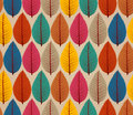 Vintage autumn leaves seamless pattern background colorful tree eps vector file with transparency organized in layers for easy Stock Photos