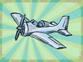 Vintage background with airplane grunge Stock Image