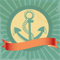 Vintage background with anchor Stock Image
