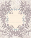 Vintage background  baroque frame Stock Photography