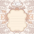 Vintage background  baroque frame Stock Photos