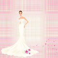 Vintage background with bride pink to lines splendid Royalty Free Stock Photography