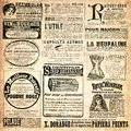 Vintage background collage of french advertising Stock Photography