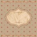 Vintage background with crumpled paper Royalty Free Stock Image