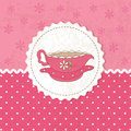 Vintage background with cup of tea Royalty Free Stock Photo