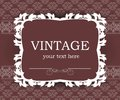 Vintage background with decorative frame. Elegant design element template with place for your text. Royalty Free Stock Photo