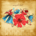 Vintage background flower decoration vector illustration Royalty Free Stock Photo