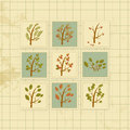 Vintage background with forest trees cards Royalty Free Stock Photo