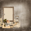 Vintage background with frame Stock Images