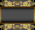 Vintage background frame with gold ornaments and a crown illustration Royalty Free Stock Image