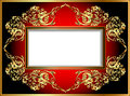 Vintage background frame with gold ornaments illustration Royalty Free Stock Photos