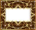 vintage background frame with vegetable Golden patt