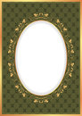 Vintage background with golden frame Stock Image